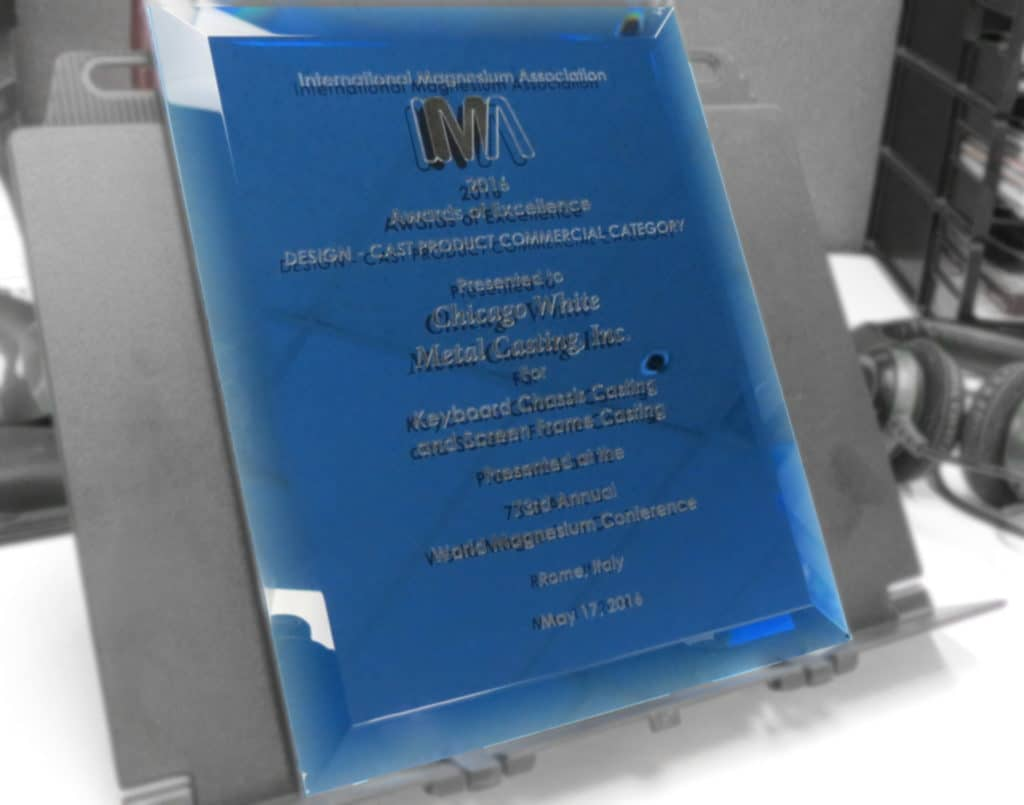 CWM and Stenograph Win the IMA Award for Die Cast Design