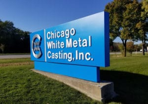 Chicago White Metal Casting, Inc. building sign