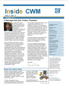 Inside CWM Newsletter - 2011 Summer