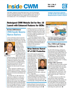 Inside CWM Newsletter - 2005 Fall