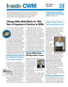 Inside CWM Newsletter - 2007 Fall