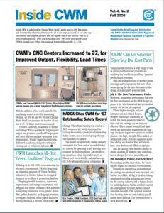 Inside CWM Newsletter - 2008 Fall