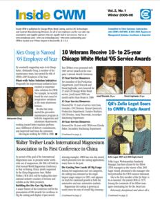 Inside CWM Newsletter - 2006 Spring