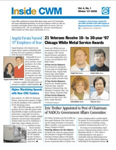Inside CWM Newsletter - 2008 Spring