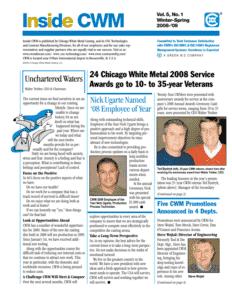 Inside CWM Newsletter - 2009 Spring