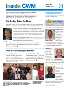 Inside CWM Newsletter - 2010 Winter