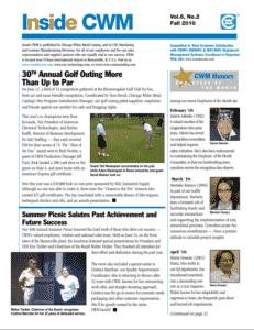 Inside CWM Newsletter - 2010 Fall