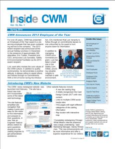 Inside CWM Newsletter - 2014 Spring