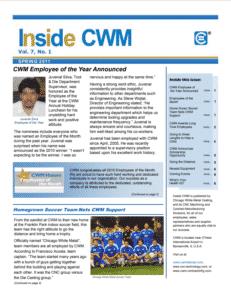 Inside CWM Newsletter - 2011 Spring