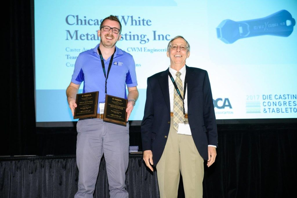 CWM Director of Engineering Rob Malarky Accepts NADCA Award for Klever Xchange Plus Handle