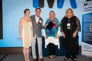 Walter Treiber, Chairman, accepts IMA Award for Die Cast Design