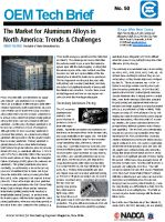 The Market for Aluminum Alloys in North America: Trends and Challenges