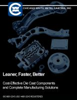 CWM Comprehensive Die Casting Capabilities Brochure