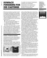 Surface Finishing for Die Casting Bulletin