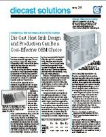 Die Cast Heat Sink Can Be a Cost-Effective OEM Choice