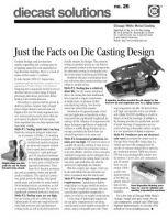 Die Cast Design Myths Can Cripple Optimum Decisions