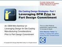 Leveraging DFM Prior to Design Commitment