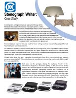 CWM Case Study: Mg AZ91D Steno Writer Parts